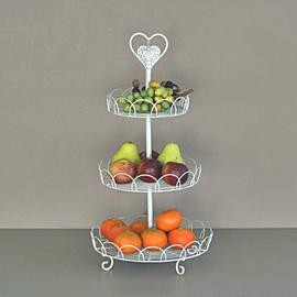 Z/SOLD - Shabby chic 3 tier cake stand or ideal for fruit