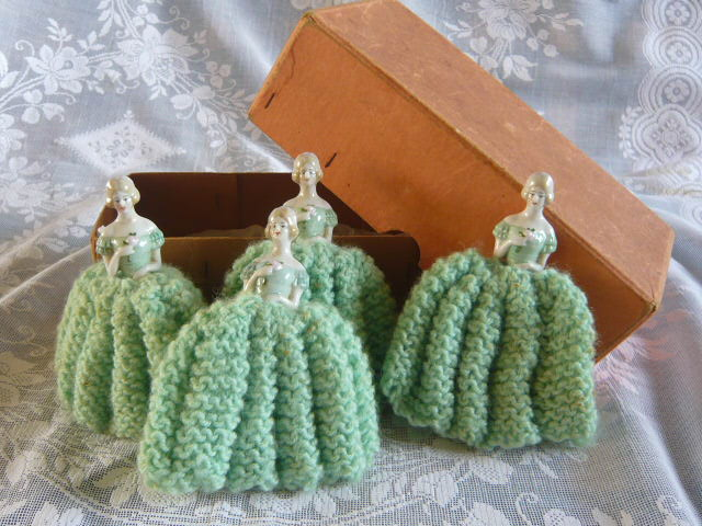 Z/SOLD - VINTAGE LADY EGG COSIES STILL IN BOX