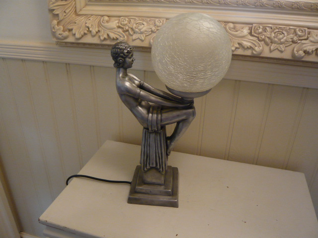 Z/SOLD - ART DECO STYLE LADY LAMP
