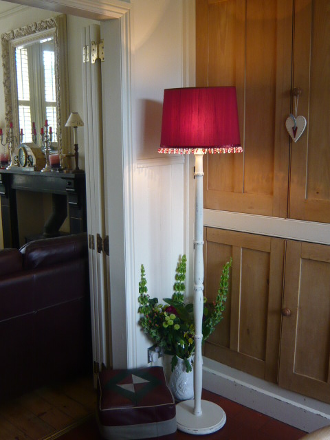 z/sold SHABBY CHIC STANDARD LAMP