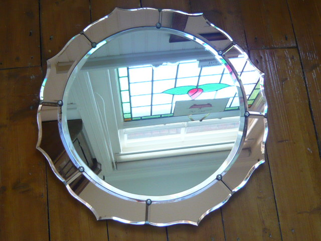 Z/SOLD  A BEAUTIFUL ART DECO MIRROR