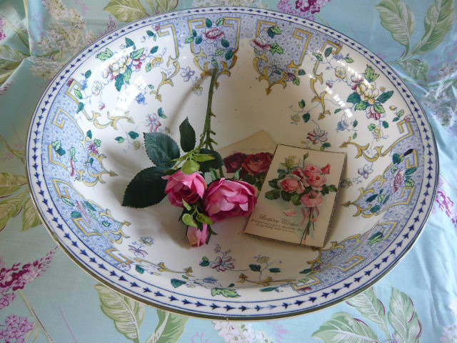 z/sold VINTAGE CHINA BOWL BY HANCOCK & SONS