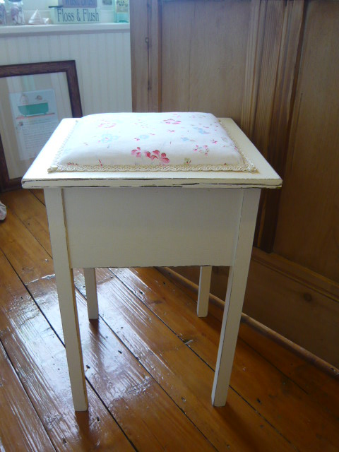 z/sold VINTAGE SEWING BOX WITH CATH KIDSTON FABRIC