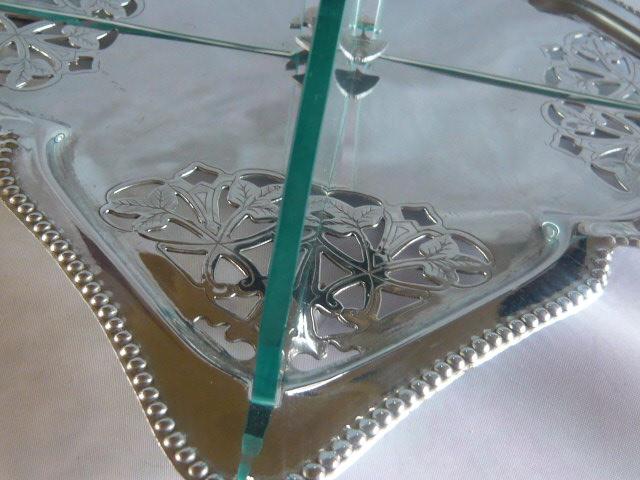 Art Deco Chrome Cake Stand : ART DECO CAKE STAND