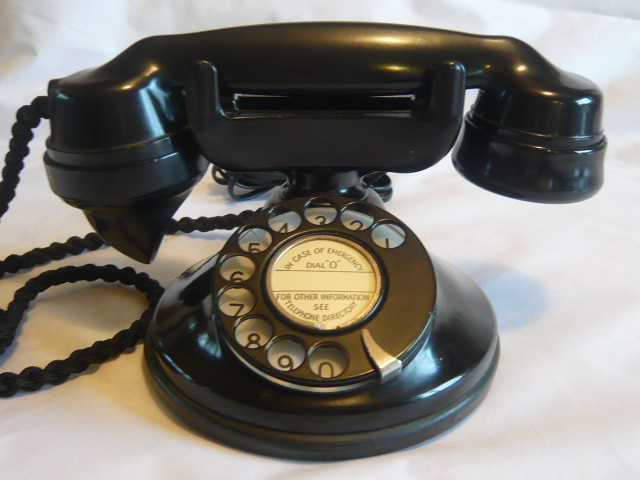 Z/SOLD - RARE ART DECO STROWGERPHONE BAKELITE TELEPHONE