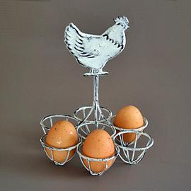 Z/SOLD - A SHABBY CHIC CHICKEN EGG HOLDER