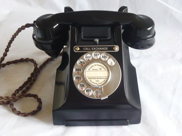 A  BAKELITE TELEPHONE VINTAGE 300 SERIES CALL EXCHANGE 1940's/50's