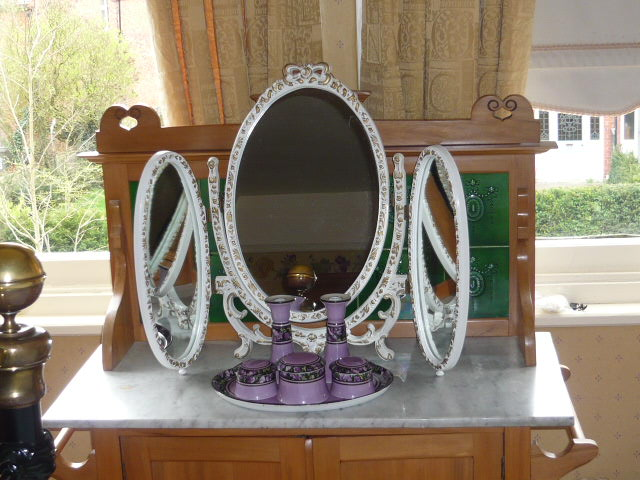 Z/SOLD  SHABBY CHIC TRIPLE MIRROR
