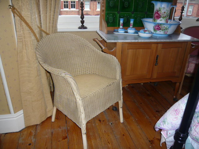 z/sold  A BEDROOM CHAIR BY LLOYD LOOM  VINTAGE