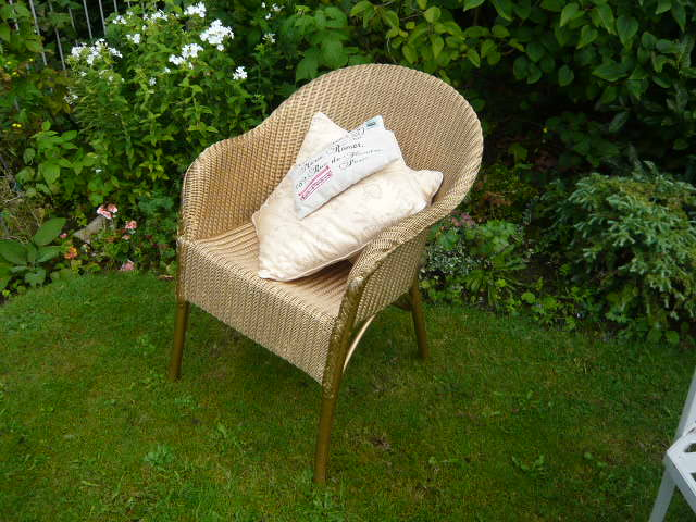Z/SOLD  LLOYD LOOM CHAIR  GOLD
