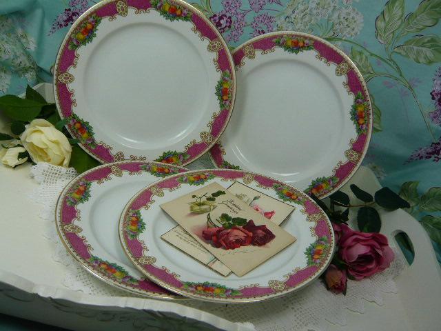 z/sold  VINTAGE TEA PLATES Wilton Ware