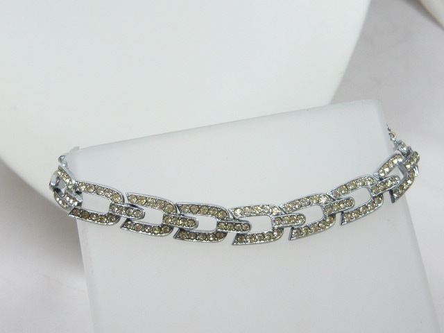 z/sold  ART DECO CHROME PASTE BRACELET