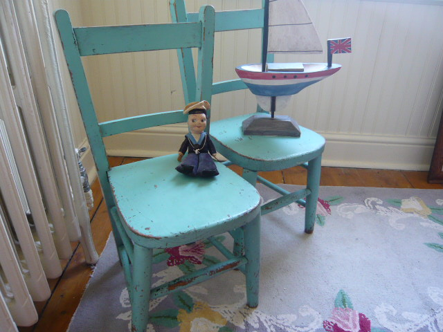 z/sold  DELIGHTFUL  PAIR OF VINTAGE CHILDRENS CHAIRS