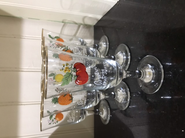 Set of Vintage Britvic drinking glasses