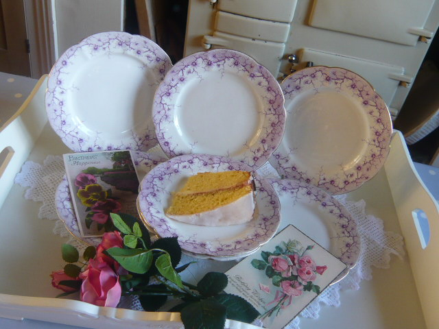 z/sold  SHELLEY VINTAGE TEA PLATES