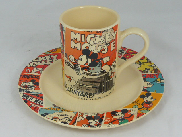 Z/SOLD - MICKEY MOUSE CUP AND PLATE