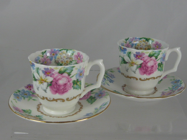 Z/SOLD CROWN STAFFORDSHIRE CUP & SAUCER SET