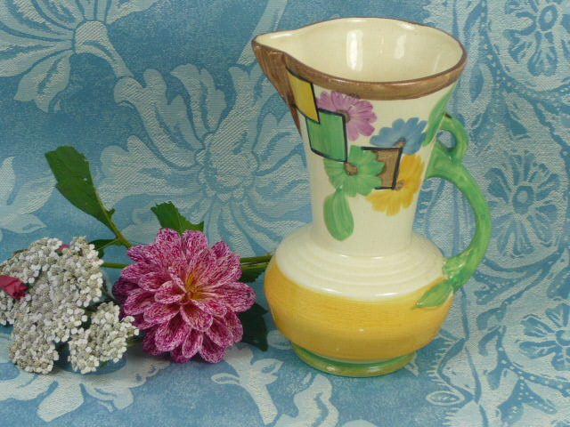 Z/SOLD - ART DECO HANDPAINTED JUG BY WADEHEATH