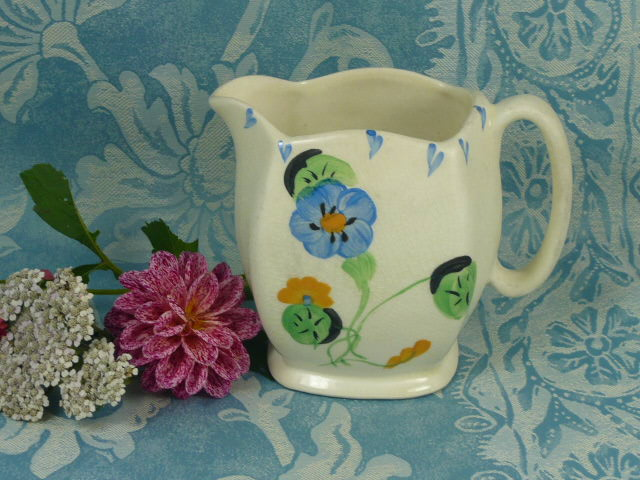 Z/SOLD - VINTAGE ART DECO HANDPAINTED JUG