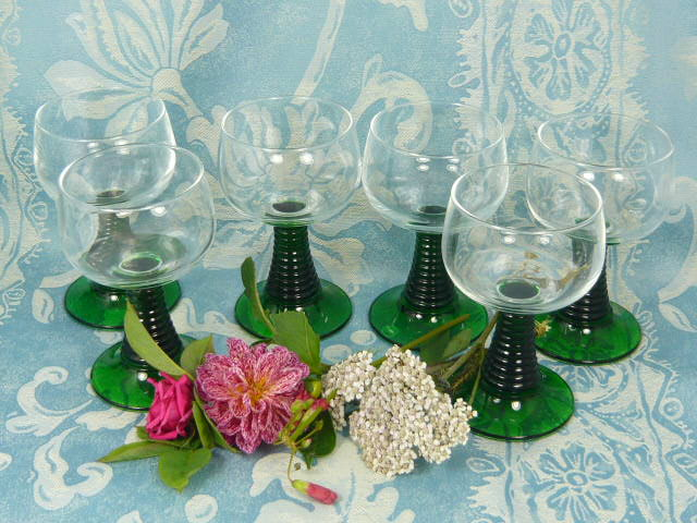 Z/SOLD  FRENCH DRINKING GLASSES  SHOT GLASSES