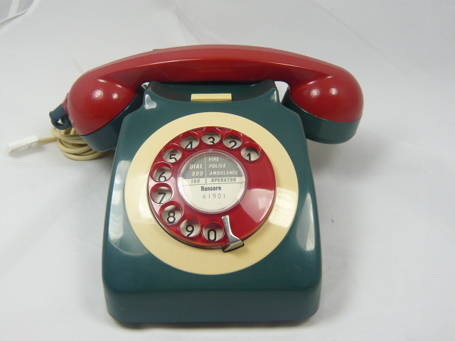 z/sold RETRO TELEPHONETWO TONE TURQUOISE & RED