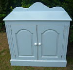 Z/SOLD -BLUE SHABBY CHIC PAINTED CUPBOARD
