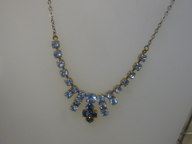 Z/sold  BLUE DIAMANTE NECKLACE